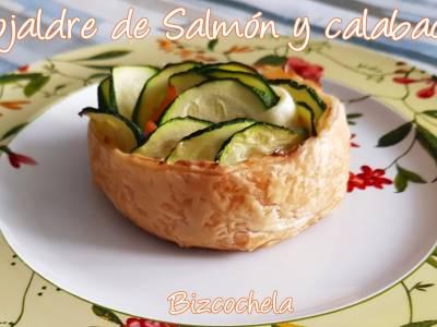 Hojaldre de salmón y calabacín