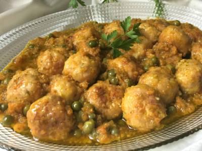 Albondigas de pollo con verduras