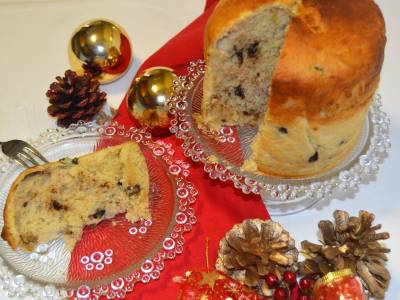 Panettone con chocolate y  nueces