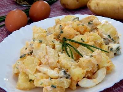 Ensalada de patata facil y deliciosa