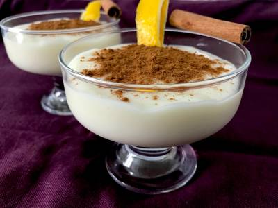 Natillas de leche merengada