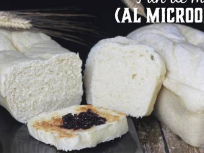 Pan de molde sin corteza al microondas