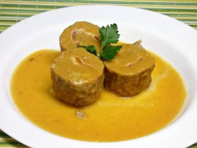 rollitos de carne picada con jamon y queso