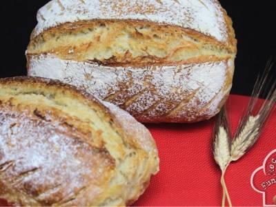 Pan casero con masa madre natural