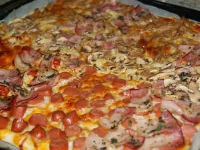 Pizza casera familiar